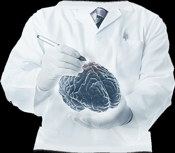 Parkinson orvos specialista fehér köpenyben