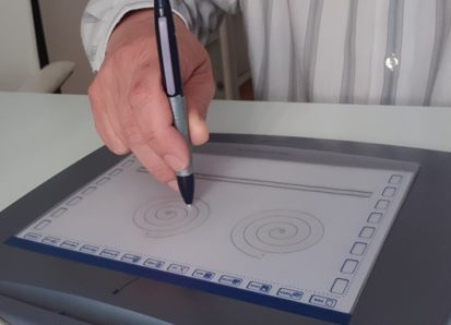 spirál rajzolás tableten